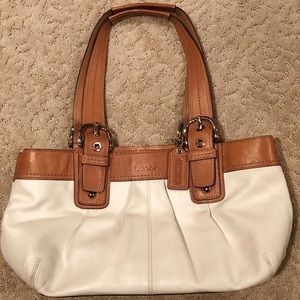 Leather Coach Satchel Purse
